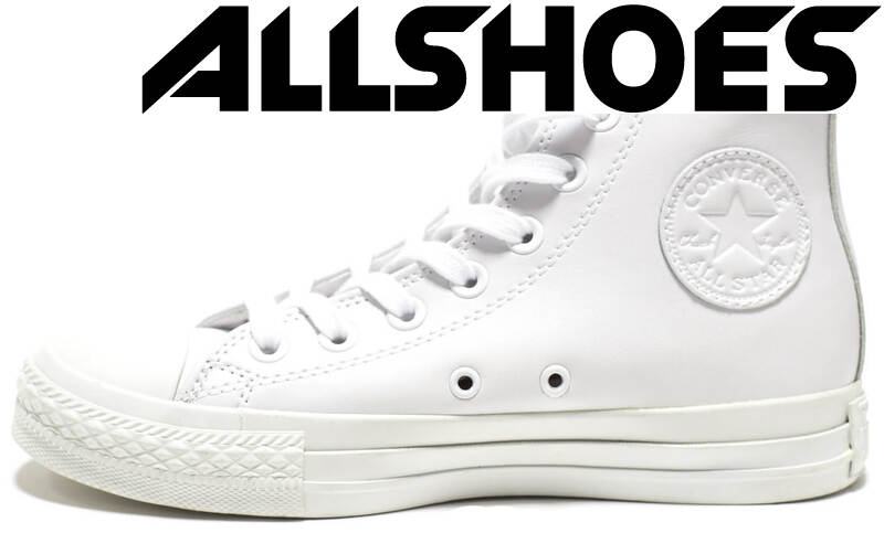 Converse All Star High Leather White Monochrome