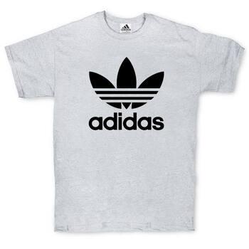 Футболка Adidas Classic Black Logo Gray