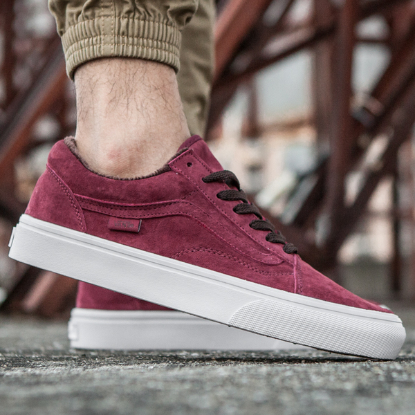 Vans Old Skool Suede Vinous (С МЕХОМ)
