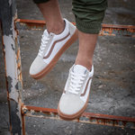 Vans Old Skool White Gray фото 7