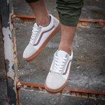 Vans Old Skool White Gray фото 8