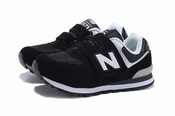 Детские кроссовки New Balance 574 Black White