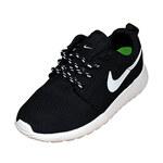 Детские кроссовки Nike Roshe Run Black White фото 2