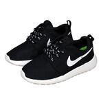 Детские кроссовки Nike Roshe Run Black White фото 4