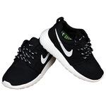Детские кроссовки Nike Roshe Run Black White фото 5