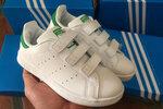 Детские кроссовки Adidas Stan Smith Low White Green фото 4
