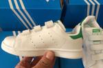 Детские кроссовки Adidas Stan Smith Low White Green фото 5