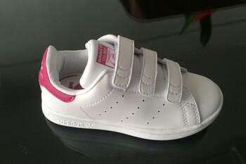 Детские кроссовки Adidas Stan Smith Low White Pink