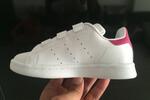 Детские кроссовки Adidas Stan Smith Low White Pink фото 4