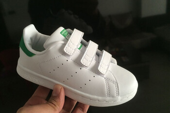 Детские кроссовки Adidas Stan Smith Low White Green