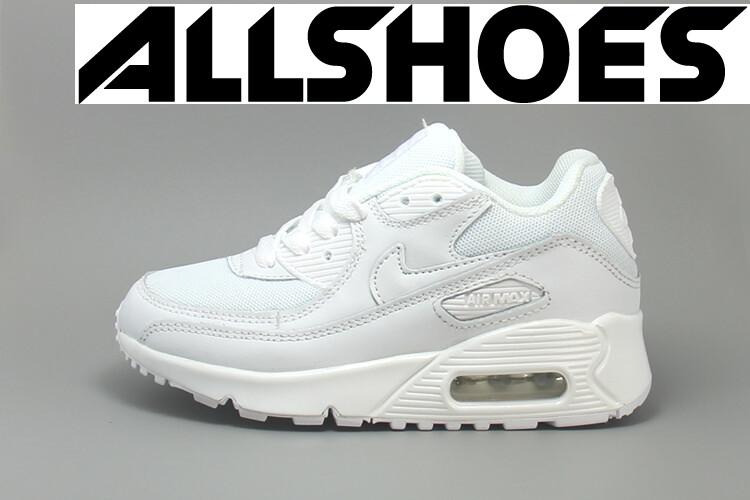 Детские кроссовки Nike Air Max 90 Monochrome Leather White