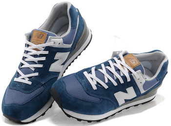 Уцененные New Balance 574 White Blue