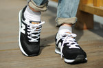 New Balance 574 Black White фото 8