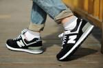New Balance 574 Black White фото 7