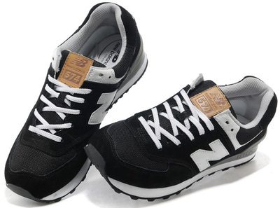 New Balance 574 Black White