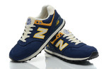 New Balance 574 Blue Yellow фото 6