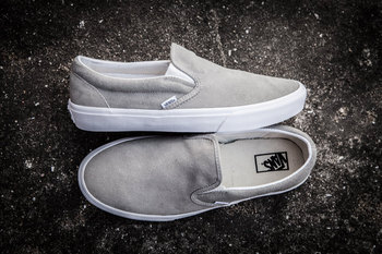 Vans Slip-On Suede Light Grey