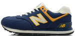 New Balance 574 Blue Yellow фото 2