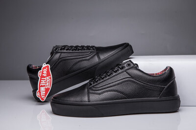Vans Old Skool Leather Monochrome Black