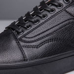 Vans Old Skool Leather Monochrome Black фото 2