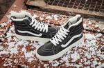 Vans Sk8 Hi Leather Winter Black (c мехом) фото 4