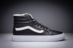 Vans Sk8 Hi Leather Black non Zip (с мехом) фото 13