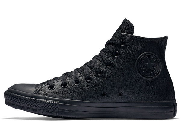 Converse All Star Mono Leather Low High Top Black (135251C)