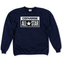 Толстовка Dark Blue Converse Classic White Rectangle Label