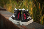 Vans Sk8 Hi Leather Winter Black (c мехом) фото 9
