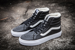 Vans Sk8 Hi Leather Black non Zip (с мехом) фото 2