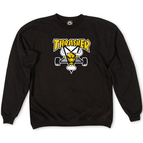 Толстовка Thrasher Black Yellow Bull