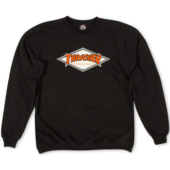 Толстовка Thrasher Magazine Black with Orange Rhombus