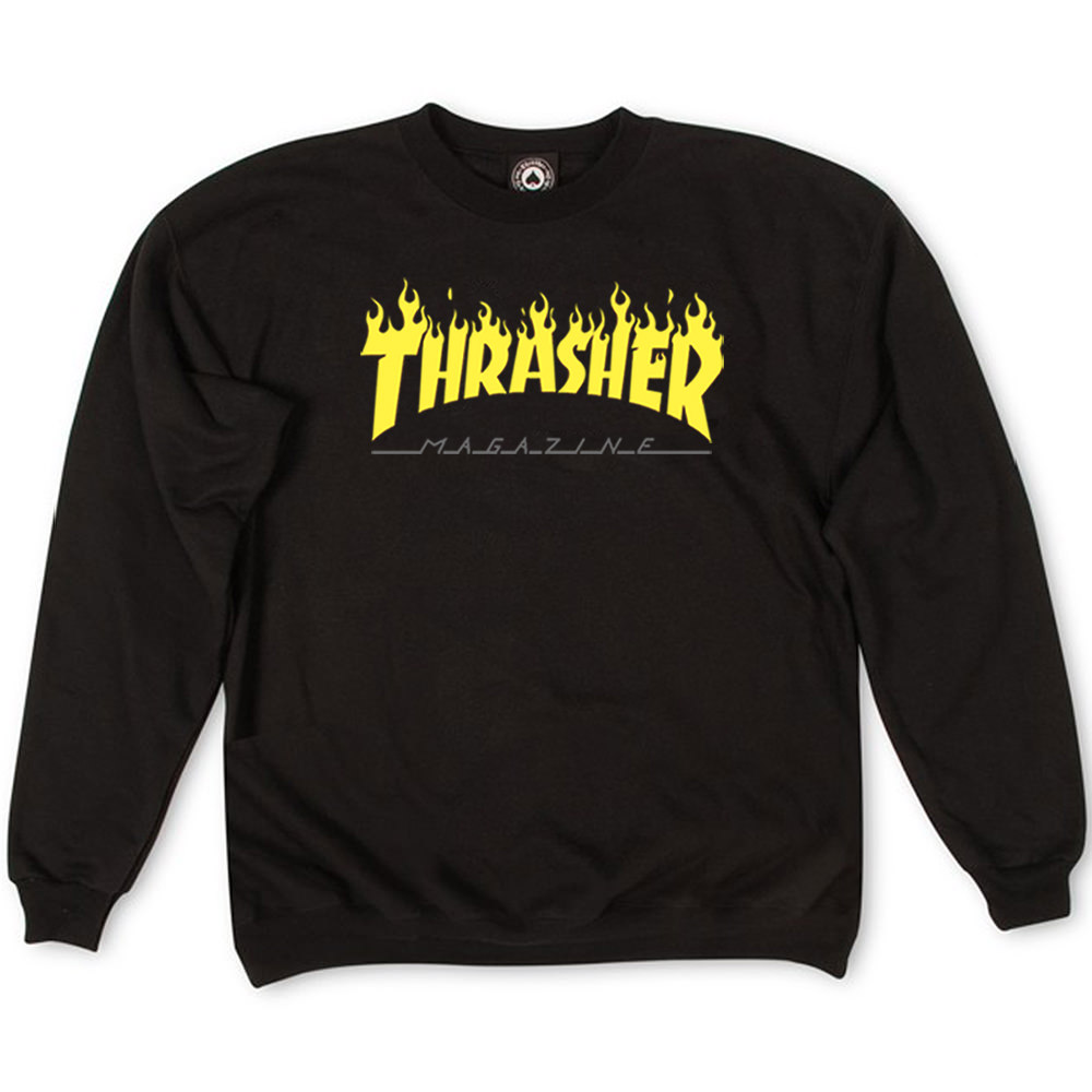 Толстовка Thrasher Fire Magazine Yellow