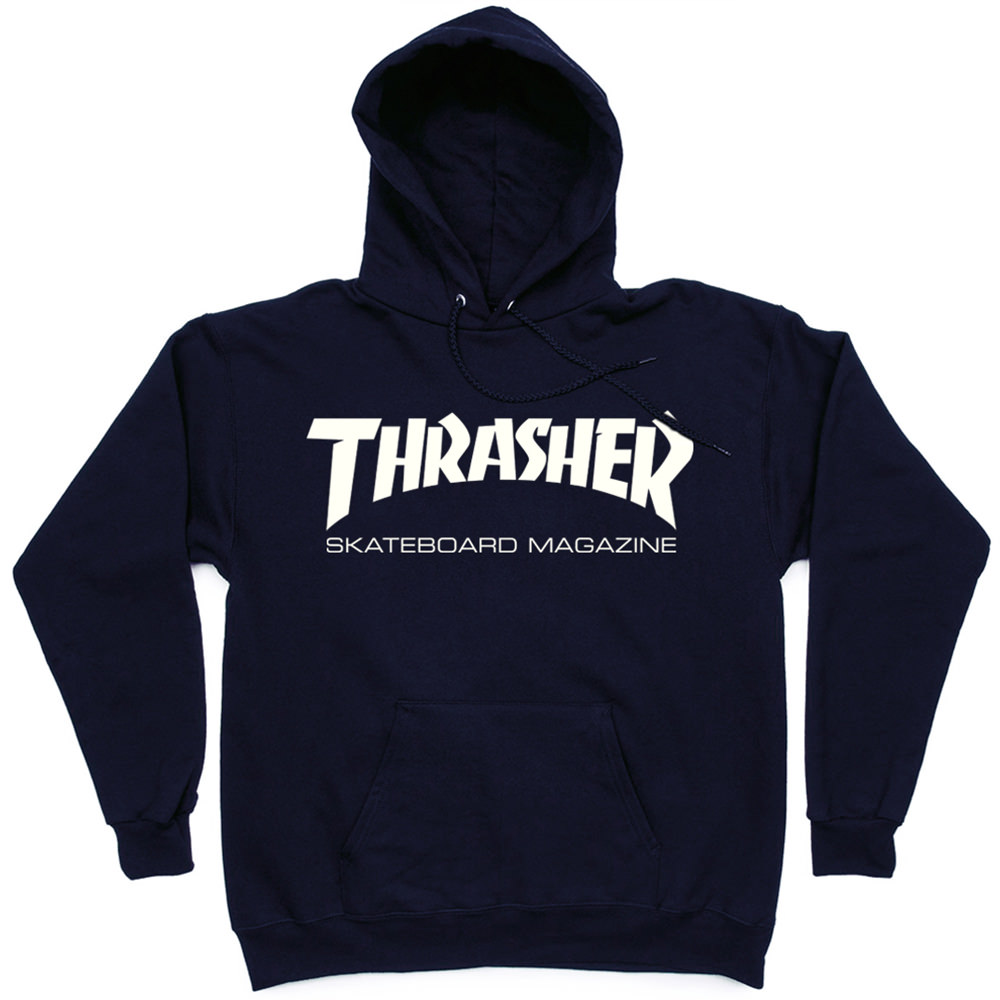 Толстовка Dark Blue Thrasher Skate Mag Hood