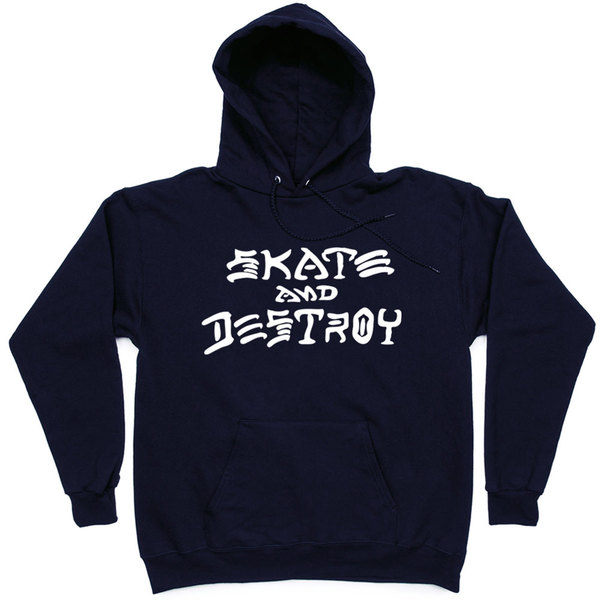 Толстовка Thrasher Skate And Destroy Hood Dark Blue