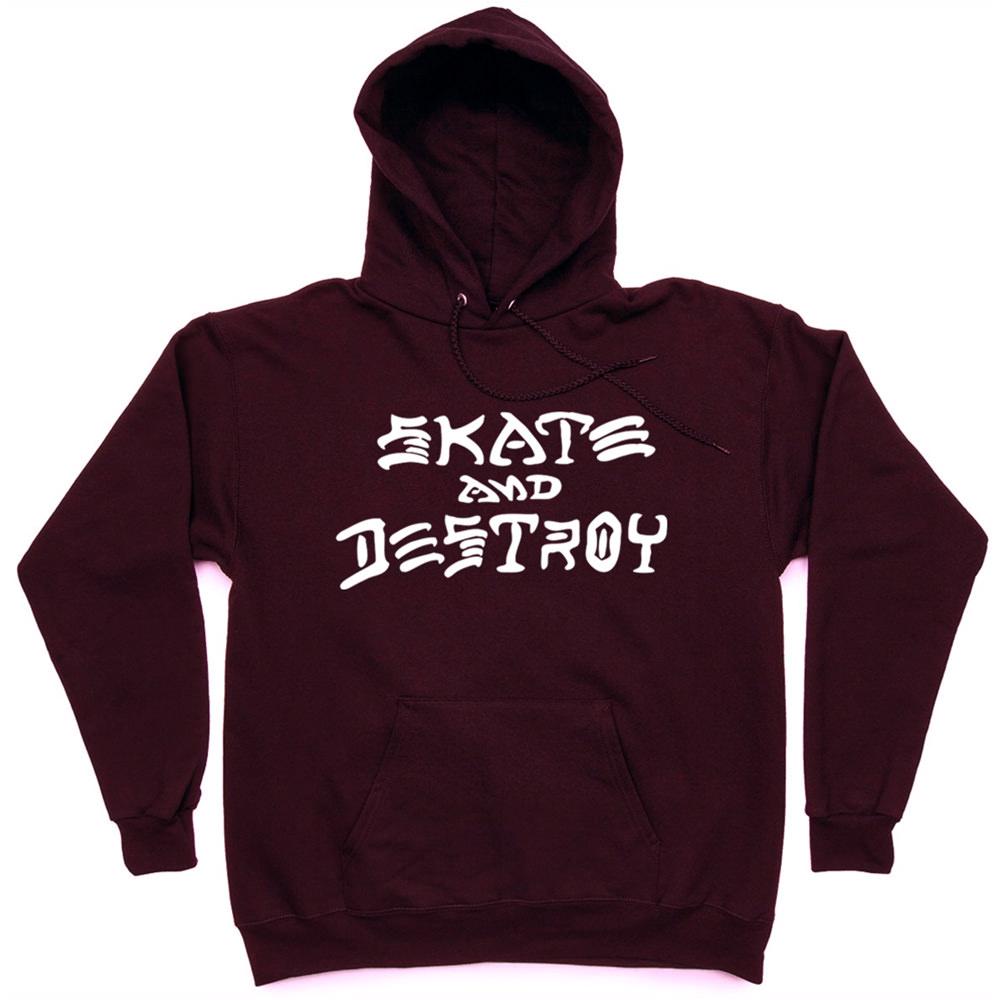 Толстовка Thrasher Skate And Destroy Hood Vinous