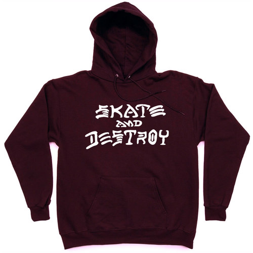 Толстовка Thrasher Skate And Destroy Hood Vinous