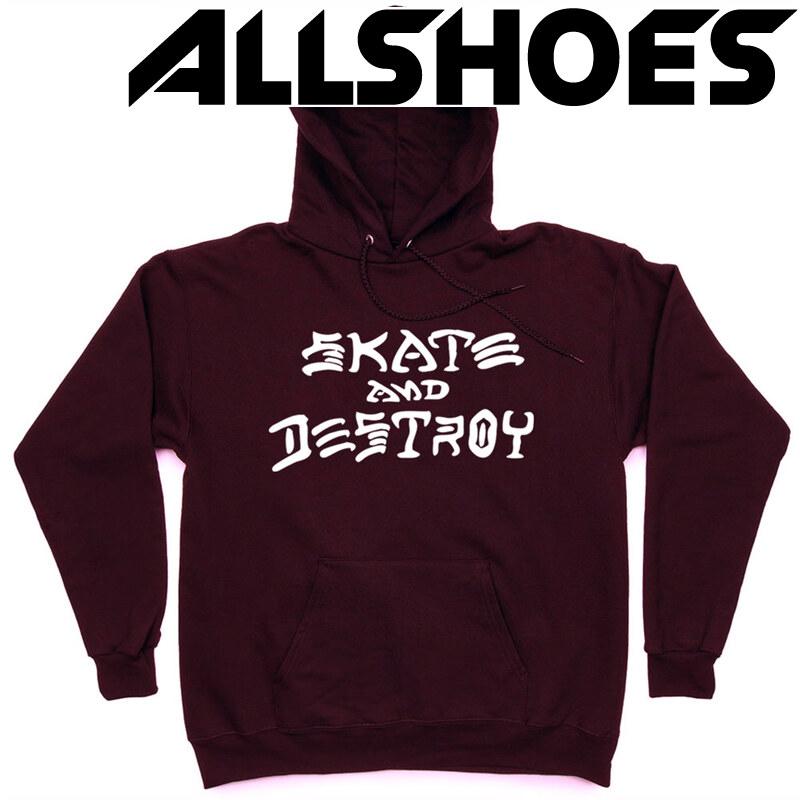 Распродажа Толстовка Thrasher Skate And Destroy Hood Vinous