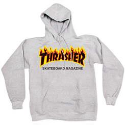 Толстовка Thrasher Gray Fire Hood
