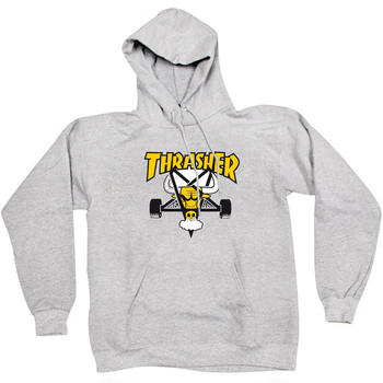 Толстовка Thrasher Gray Yellow Bull Hood