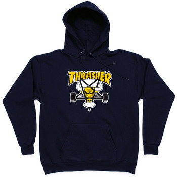 Толстовка Thrasher Dark Blue Yellow Bull Hood