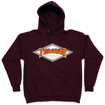 Толстовка Thrasher with Orange Rhombus Hood Vinous