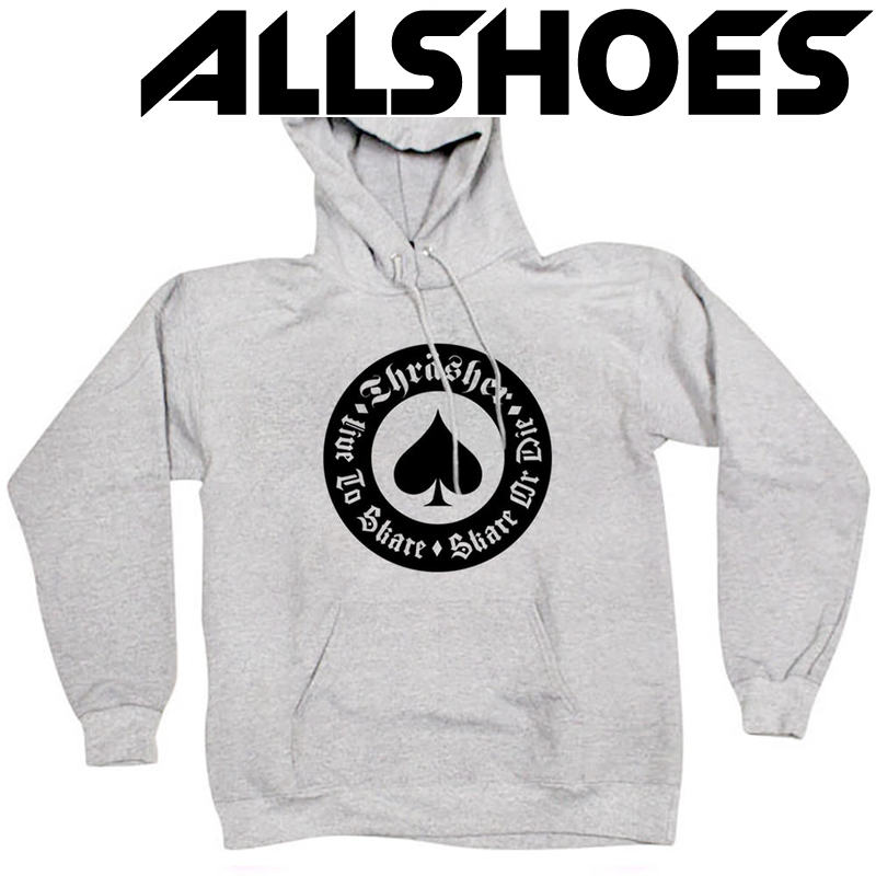 Толстовка Thrasher Live To Skate Gray Hood