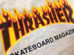 Футболка Thrasher Skateboard Magazine Grey Fire фото 3