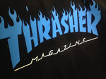 Футболка Thrasher Magazine Black with Blue Flame фото 3