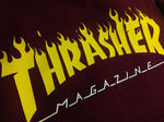 Толстовка Thrasher Fire Magazine Yellow Vinous Hood фото 3