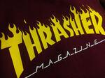 Толстовка Thrasher Fire Magazine Yellow Vinous Hood фото 3