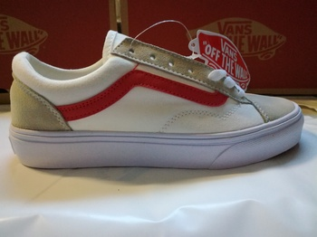 Vans Old Skool White Gray Red