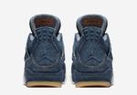 Levi's X Air Jordan 4 Blue Denim фото 3