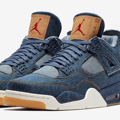 Levi's X Air Jordan 4 Blue Denim